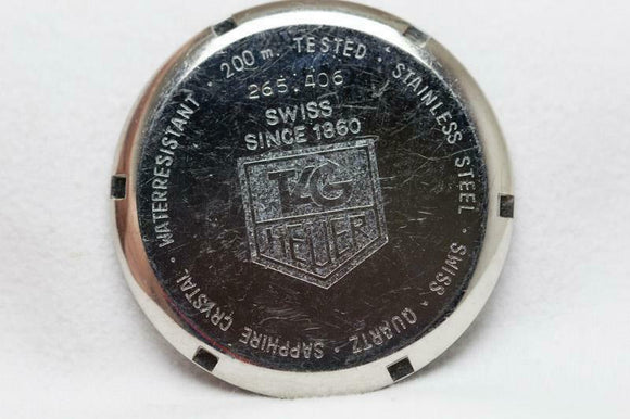 Tag Heuer Stainless Steel Caseback Reference 540.206