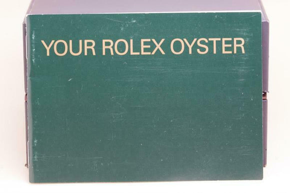 Genuine Rolex booklet - Your Rolex Oyster - 579.52 Eng 3.2003 - 2003