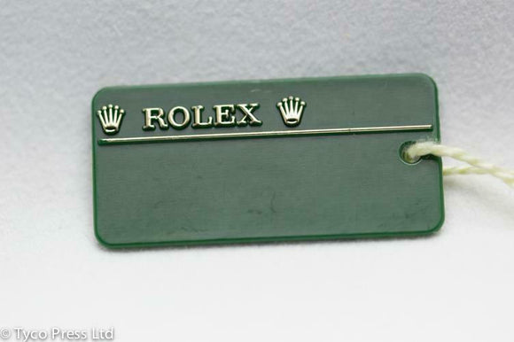 Rolex Green Oyster Datejust 116231 Swing Tag - V Serial 2008 / 2009