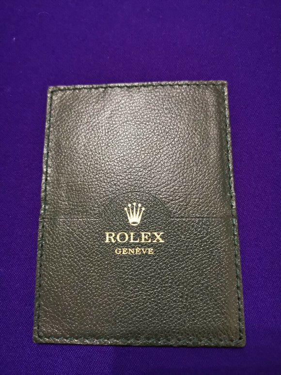 Rolex Guarantee Papers & Manual Pouch / Wallet Ref 0101.40.05 Green