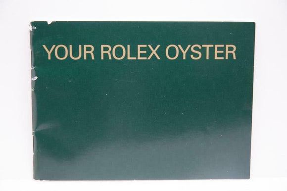 Your Rolex Oyster Booklet - 2006 - Ref 579.52 Eng 1.2006