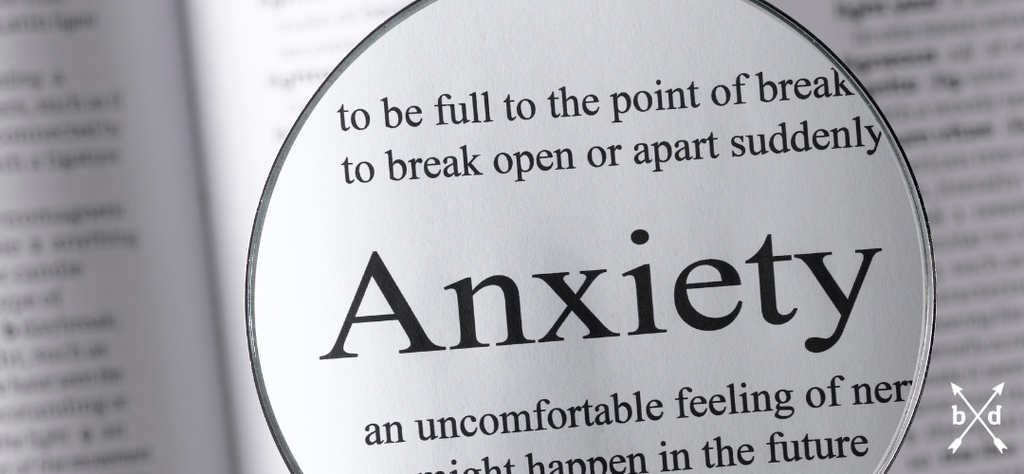 the word 'Anxiety' under the microscope in a book