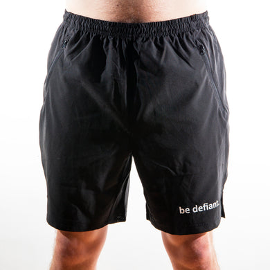Be Defiant Black Men's Performance Shorts Front