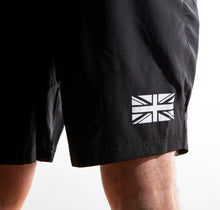 Load image into Gallery viewer, Be Defiant Black Men's Performance Shorts with White Union Jack