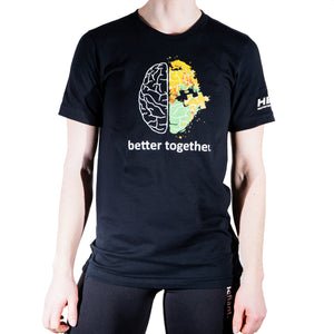 Black Be Defiant x Hence Stacks 'Better Together' T Shirt Front