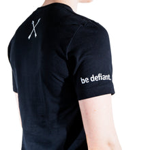 Load image into Gallery viewer, Black Be Defiant x Hence Stacks 'Better Together' T Shirt Sleeve