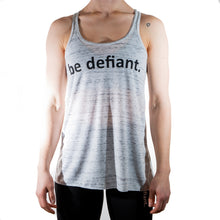 Load image into Gallery viewer, Woman Wearing Be Defiant Vest In Black Marble Front