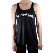 Load image into Gallery viewer, Be Defiant Black Essential Racerback Vest Front