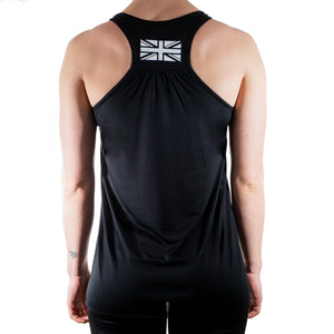 Be Defiant Black Essential Racerback Vest Rear