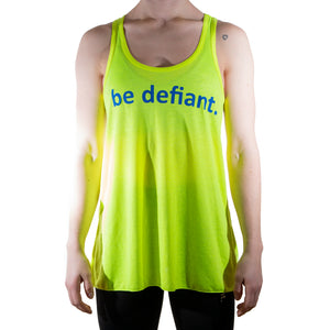 Neon Yellow Essential Racerback Vest