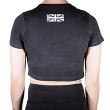 Load image into Gallery viewer, Ladies Black Crop Tee