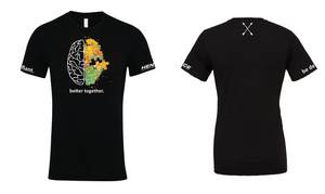 Black Be Defiant x Hence Stacks 'Better Together' T Shirt Front & Back