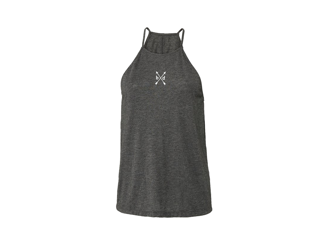 Charcoal Ladies High Neck Tank