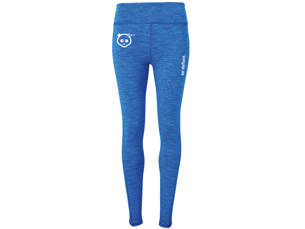 Muscle Panda Fitness Galaxy Blue Leggings