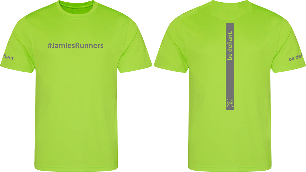 Jamie's Runners x Be Defiant Green Running T-Shirt