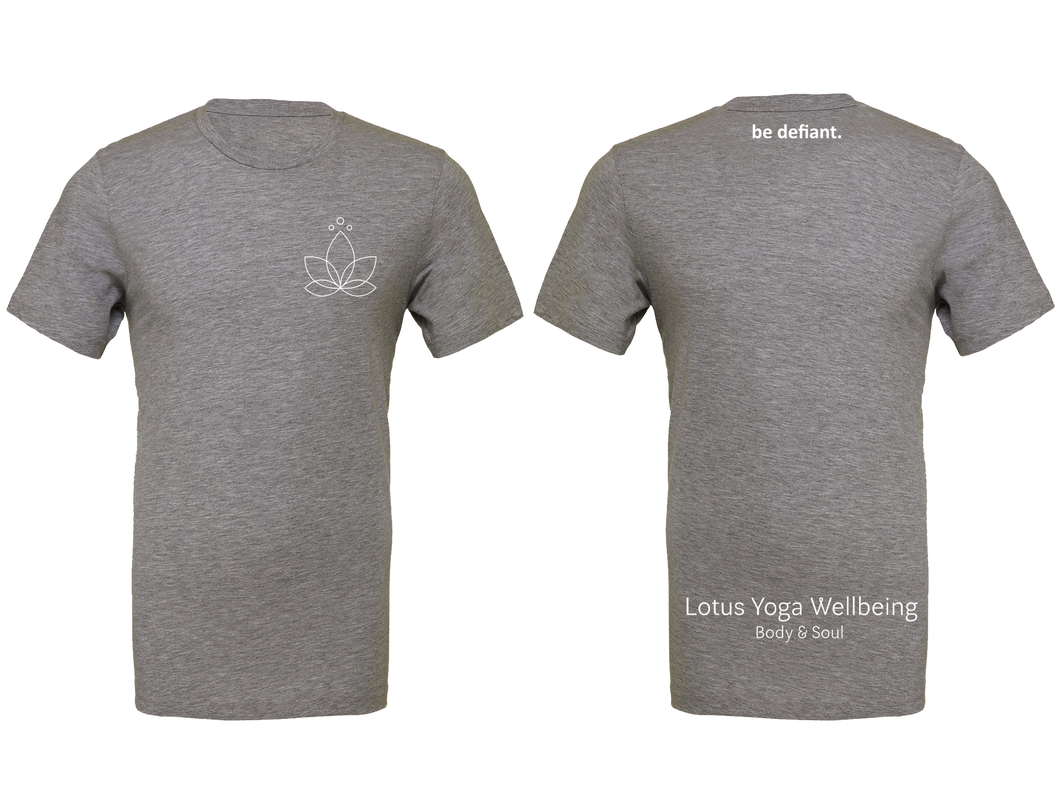 Lotus Yoga Light Grey Workout T-Shirt