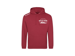 Menta-Fit Training Dark Red Hoodie