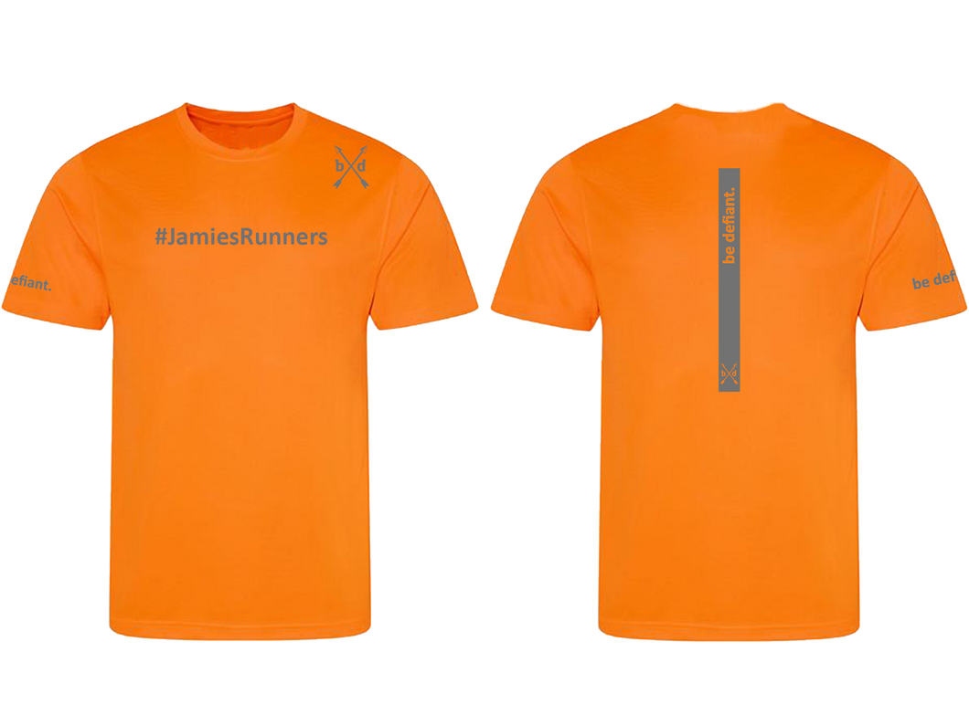 Jamie's Runners x Be Defiant Orange Running T-Shirt