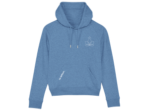 Lotus Yoga Ladies Blue Premium Hoodie