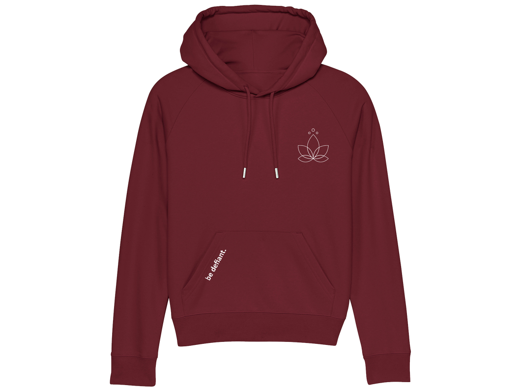 Lotus Yoga Ladies Burgundy Premium Hoodie