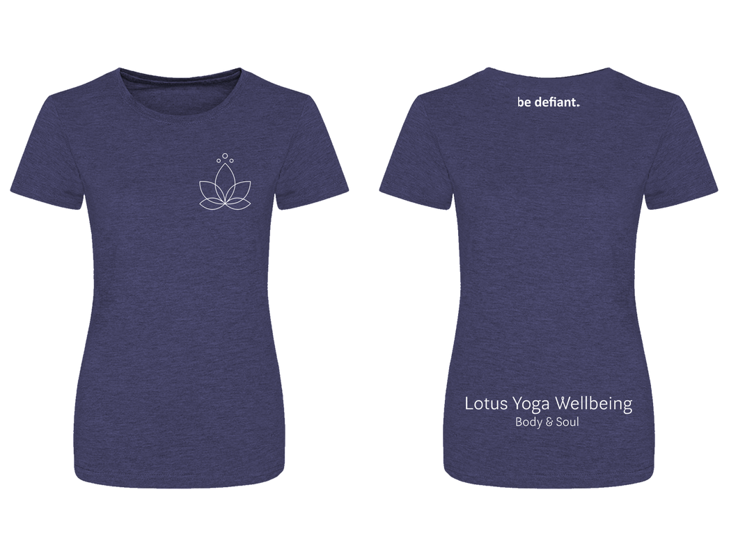 Lotus Yoga Navy Women's Premium T-Shirt