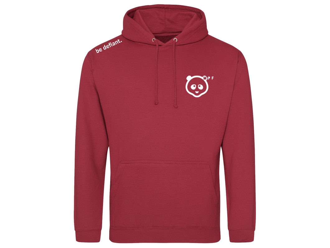 Muscle Panda Fitness Essential Red Hoodie