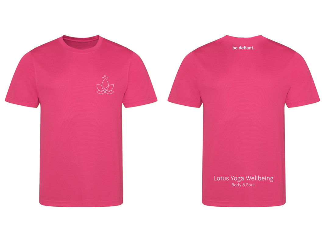 Lotus Yoga Pink Technical T-Shirt