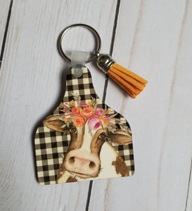 Cow Key Tag