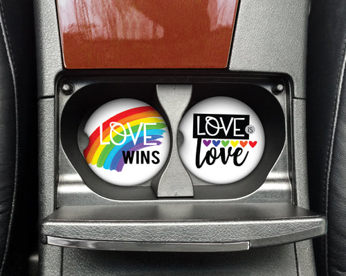 Car Coasters - Love Is Love