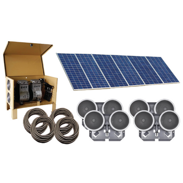 Deep Water Solar Aeration Complete System - Up to 4 acres - Four QS2 diffusers and 400' Quick Sink tubing - Enterprise Aquatics