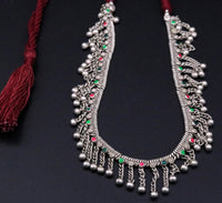 Traditional design Handmade silver old chain necklace tribal belly dance jewelry from rajasthan india  !!set16