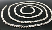 30 inches long solid silver handmade belly chain necklace chain link chain fabulous jewelry for belly dance