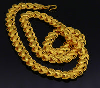 24 inches 22k yellow solid gold handmade fabulous lotus chain necklace excellent gold unisex chain ch139