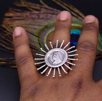 925 sterling silver handmade fabulous Victoria ring adjustable ring unisex jewelry from rajasthan india sr167