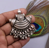 925 Sterling silver handmade gorgeous amulet pendant oxidized customized pendant belly dance temple jewelry bellydance rajasthan india nsp13