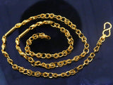 Vintage design handmade 22kt yellow gold fabulous link chain unisex gifting necklace chain with amazing design  ch187