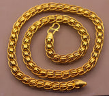 22k certified yellow gold handmade gorgeous link chain 7 mm 20 inches long chain necklace india jewelry  ch188