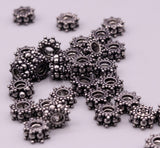 Lot 10 pieces Antique design handmade 925 sterling silver solid beads loose beads for jewelry making ideas bd05