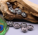 Lot 10 pieces 925 Sterling silver handmade awesome beads jewelry findings for special antique jewelry making ideas bd03