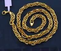 Handmade 22kt yellow gold amazing excellent design chain necklace handcrafted indian jewelry gifting ideas ch213