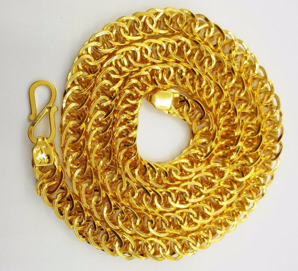 Handmade 22 karat Vintage style 20 inches long fabulous foxtail link chain necklace for unisex jewelry from rajastjan