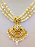 222kt yellow gold handmade gorgeous pearl necklace excellent wedding bridal necklace unisex tribal punjabi muslim jewelry set08