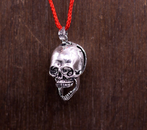 vintage antique style 925 sterling silver handmade skull pendant fabulous flexible locket tribal belly dance hip hop jewelry india nsp215