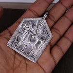 925 sterling silver vintage antique style indian tribal village deity horse rider Ramdevji tribal pedant excellent jewelry nsp228