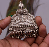 925 sterling silver solid peacock design vintage customized design handmade pedant gorgeous tribal personalized jewelry from india nsp260