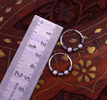 Fabulous 925 sterling silver handmade hoops earrings bali ,pretty gifting bali tribal jewelry , tribal jewelry India s617