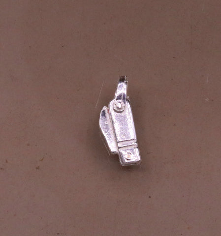 Solid silver handmade small tiny knife pendant to protect you and kids from negative energy rajasthan India pendant locket nsp287