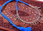 Traditional indian Handmade sterling silver adjustable necklace with fabulous hangings excellent tribal jewelry belly dance jewelry set94
