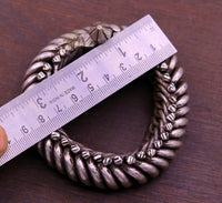 Sterling silver Handmade vintage antique old used ancient bangle bracelet kada unisex tribal jewelry, also we can use as anklet jewelry sk11