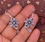 925 sterling silver fabulous cubic zircon stone flower shape hoops earring with gorgeous pendant gifting jewelry necklace earring s664